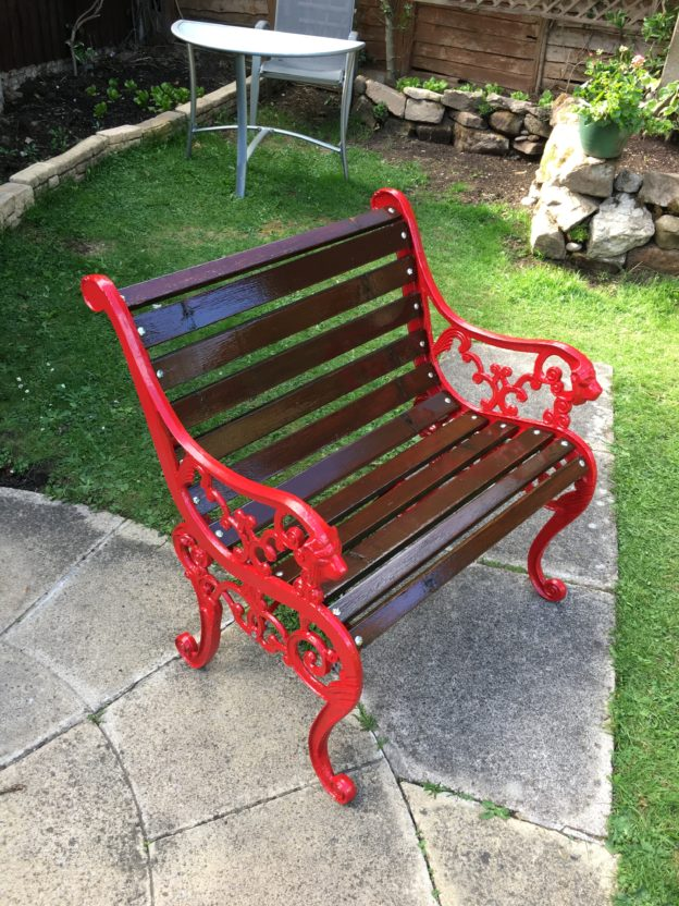Garden seat refurbished
