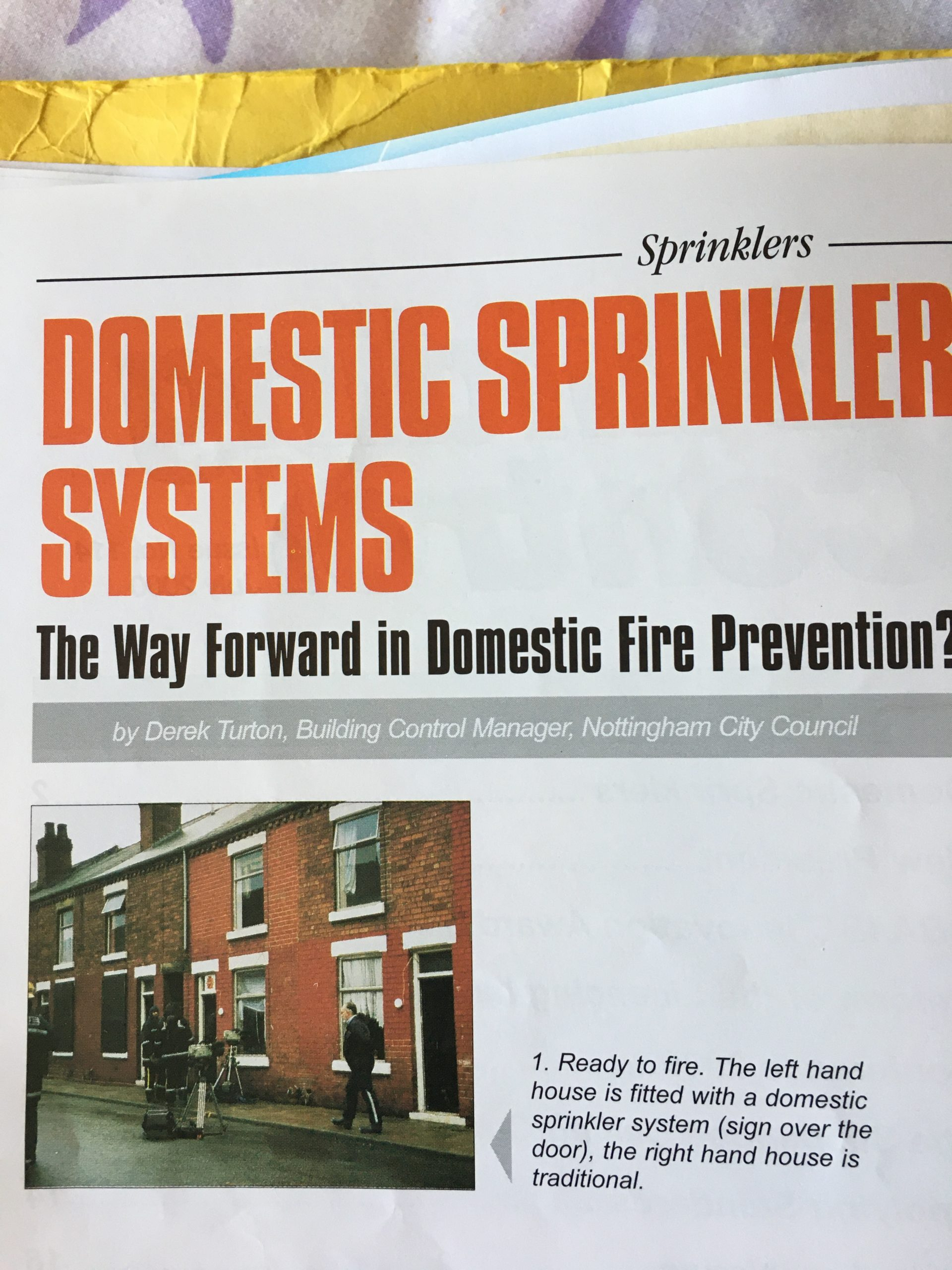Domestic Sprinkler Systems Article